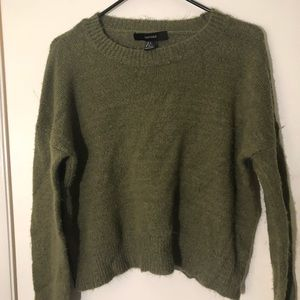 Forever21 olive green sweater